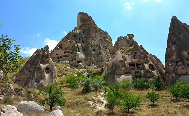 Крепость Учхисар, Каппадокия, Турция