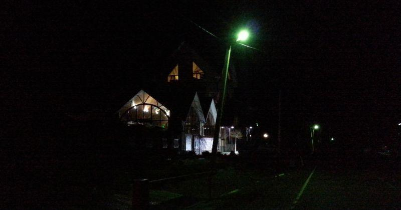 Отель Абаго ночью