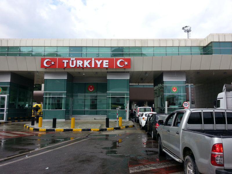 Вид с той же точки на турецкий КПП