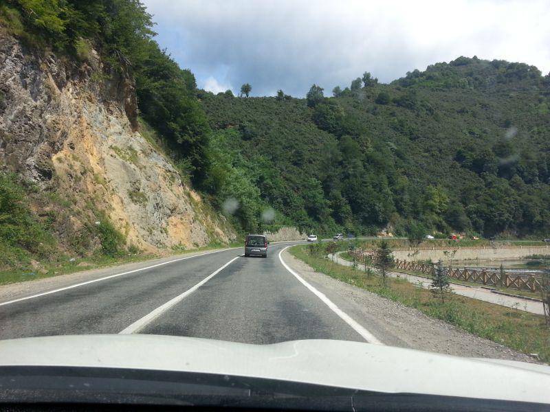 Дорога Гиресун – Сушехри в 10 км от Гиресуна